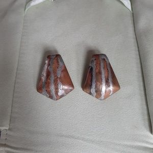 Vintage copper and Silver earrings